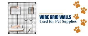 wire grid walls used for pet supplies